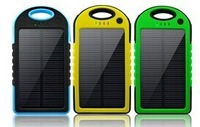 50pcs/lot Colorful Shochproof Waterproof 5000mah Solar Battery Charger for iPhone Samsung Smart Phone
