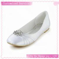 Beautiful Satin Flat Heel With Rhinestone Wedding / Party Shoes Cy0164
