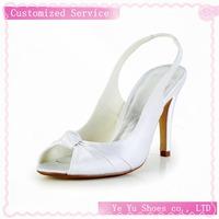 Satin Womens Wedding New Pretty Stiletto Heel Peep Toe Pumps Shoes (more Colors)