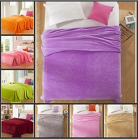Free shipping! 10 color ultra soft solid black velvet upgrade snuff blanket / coral fleece thick blanket / nap blanket 200*230