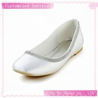 Beautiful Satin Flat Heel With Rhinestone Wedding / Party Shoes CY0167