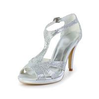 Free Shipping!Shinning Satin Stiletto Heel Sandals Wedding Shoes With Rhinestone CY0239