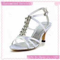 Size 34-41, Womens Wedding Brides Tops Brand New Elegant Satin Stiletto Heel Sandals with Rhinestone Wedding Shoes(More Colors)