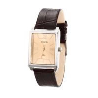New Fashion Watches & Clocks 2014,Black/Brown Square Big Dial Watch,Vintage Business Watches for Women