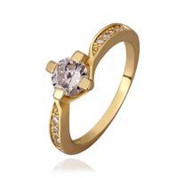 Ring 18K Gold Plated Ring 18K  Fashion Jewelry Ring For Women Romantic Jewelry deji okad GPR591-7