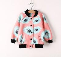 Free shipping 2014 autumn children spend  baseball uniform printing hoodies jacket children's clothing wholesale trade