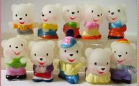 Free shipping 10pcs/set cartoon vinyl doll toys Fashion style  3.5*4.5 cm