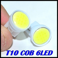 100pcs/lot x T10 194 168 W5W 6led t10 cob led white 2W High Power LED Car Door Lamps Indicator Light Reading Light  Bulbs White