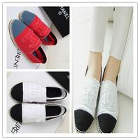 2014 women flats canvas shoes maternity casual flat heel single shoes plus size women's denim espadrilles Free shipping
