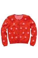 fashion brand children girl round dot cardigan sweater