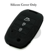 Silicone Cover Shell for KIA Sorento Carens Flip Remote Key Case 11 CLR BK