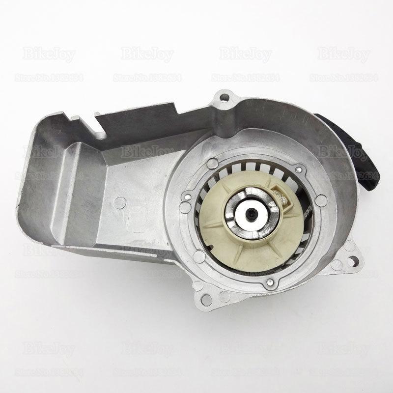 Silver Pocket Mini Bike Aluminum Pull Starter 47cc 49cc 2 Stroke Engine ATV Quad Go Kart Dirt Motorbike Parts(China (Mainland))
