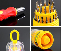 31pcs a set Universal screwdriver 31 -in-one Multifunction magnetic screwdriver combination tool set