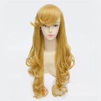 High quality 80cm Sleeping Beauty Princess Aurora golden comic anime cosplay wig hair