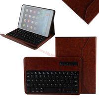 Removable Bluetooth Keyboard Folio Case for iPad mini 2 / iPad mini - Smart Case with Auto Sleep / Wake, Long Battery Life Brown