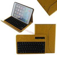 Removable Bluetooth Keyboard Folio Case for iPad mini 2 / iPad mini - Smart Case with Auto Sleep / Wake,Long Battery Life Yellow