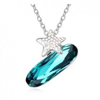 crazy price trendy  IMITATION rhodium plated rhinestone ol styly crystal jewelry necklace!G133