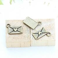 68a love letter design diy necklace bracelet component  100pcs/lot 12*9MM pendants alloy  lucky Charms  Jewelry Findings