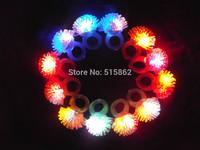 50pcs/lot 3*3*4cm  Free shipping led party finger light led flower ring led flashing ring for wedding favors