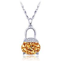 key  female short design austria crystal chain pendant