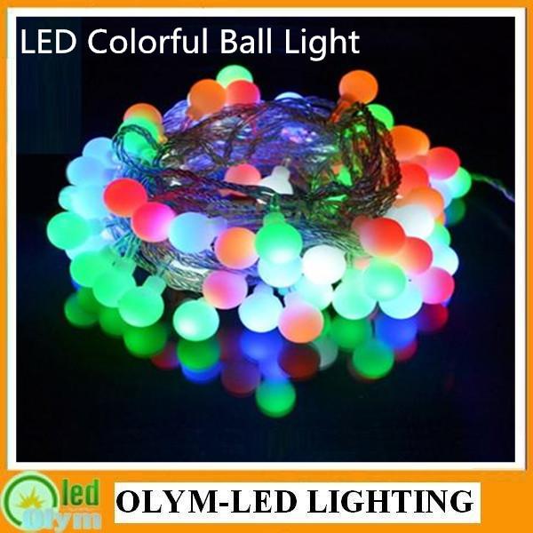 OLYM-LED Xmas Light LED bulb string light led rainbow light waterproof RGB LED String 5M/pack 50leds 220V 110V Free Shipping(China (Mainland))