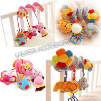 2014 New 1Set Baby Toys infant crib revolves around the bed stroller playing toy car lathe hanging baby rattles Mobile ay672400