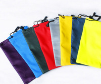 500Pcs/lot Waterproof leather plastic sunglasses pouch soft eyeglasses bag glasses case many colors Y812