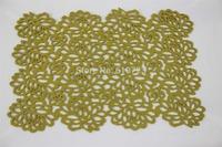 whole sales,green laser felt placemat/table mat /multi color felt  mat size:30*45cm