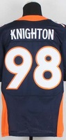Drop shipping, usa football sport wear,Denver #98 Terrance knighton white orange blue Men's Jersey,embroidery logo size 40-56