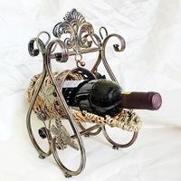 Continental Iron wine rack wine rack wine cup holder creative retro glasses frame
