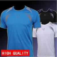 New arrival 2014 High quality summer Mens Designer Quick Drying Soccer jerseys Tee Shirt Slim Fit Tops New Sport T Shirt M-XXL