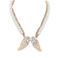 New Luxury Full Rhinestone Crystal Angel Wings Women Pendant Necklaces,Wedding Jewelry Wholesale(mix order)$10 Free Shipping