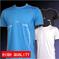 Hot sale New 2014 Mens Designer Quick Drying Casual T-Shirts Men Tee Shirt Slim Fit Tops New Sport Shirt M L XL XXL 55%off deals