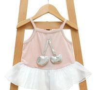 wholesale 2014 fashion kids girl summer dress,baby cute cotton dress girls clothes, sleeveless navy dress, Girl Sailor Dresses