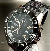 Curren Men Man's quartz stainless steel precision inveted watch calendar Dropship,Brand Relogio