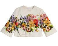 Top Quality 2014  designer children cloak coat, Italy brand girls dobby coat, floral kids outerwear girls' jackets, 2-12Y