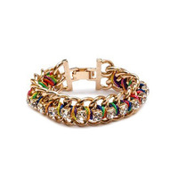 2014 fashion Korean style jewelry crystals gold bracelet for women free shipping 140723