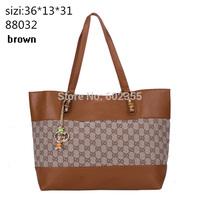 Promotion!Wholesale Fashion Black,Brown Bags Women Handbag Name High Quality Leather Shoulder Shopping Bag Free Shipping 88032