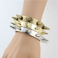 2014 Cool!!! punk rock spike bangle bracelet cuff steampunk fashion jewelry B1-017