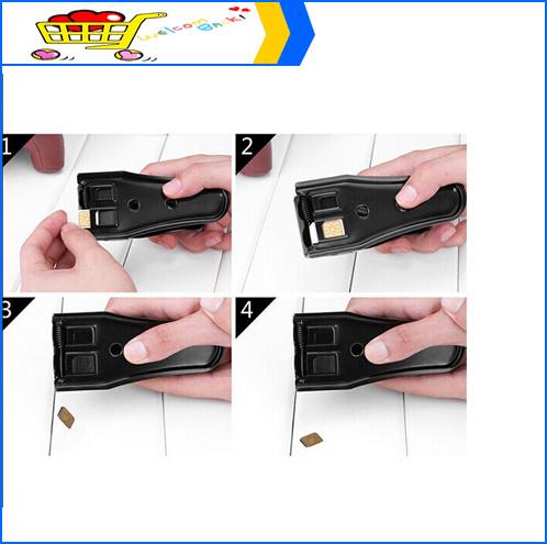 Black Universal 3 in 1 Sim/ Micro Sim/ Nano Sim Card Cutter For iPhone 6 5c 4S