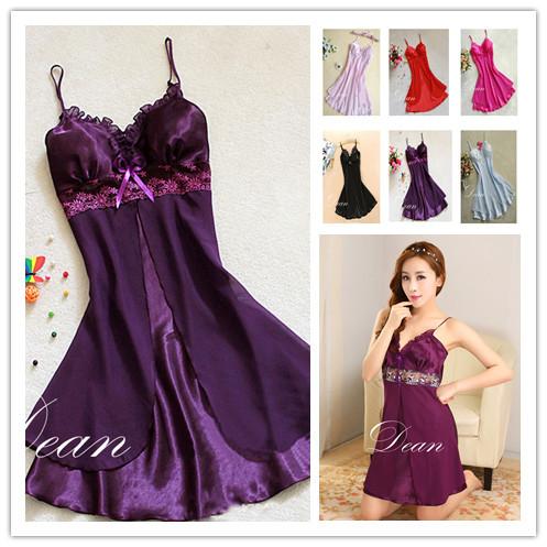 2923 /1010 fashion sexy women Lingerie Nightgown casual ladies sleepwear nightdress camisola vestidos femininos nightie(China (Mainland))