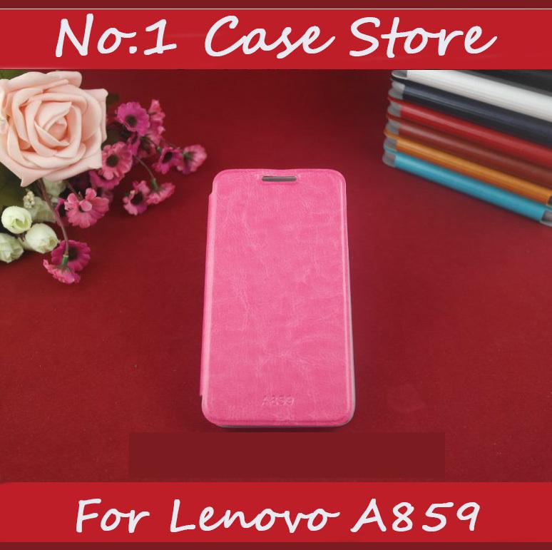 Pure couleur de bonne qualité portefeuille à l'intérieur en cuir flip étui de téléphone cellulaire pour lenovo a859 a678t téléphone mobile couvrir avec la conception de stand