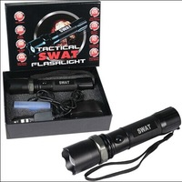 SWAT BW8202 XM-L T6 3W CREE 120 Lumens LED Flashlight +Charger Free Shipping
