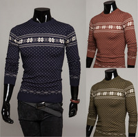 5 2014 New Arrival spring men's male long sleeve knit color  o-neck sweaters Wholesale fashion cardigan shirts  M52