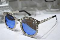 new 2014 fashion free shipping men women sunglasses brand designer oculos de sol anti-UV lens alloy classic glasses ESCE032