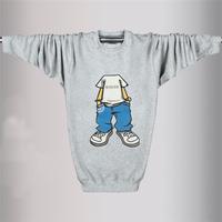 Freeshipping men's sweatershirt Hoodies men's cotton round neck thick warm  hoodies L/XL/2XL/3XL/4XL/5XL