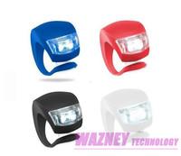 200pcs/lot *Cycling Bike Silicone Beatles Bullfrog Light LED Front/Rear Safety Warning Lamp Waterproof Safety Bike  4 COLORS