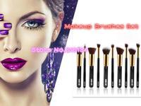 10pcs/Pack Foundation Brush Eyeshadow Brush Professional Cosmetic Makeup Brushes Set Kits