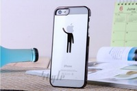 new phone 4 generation mobile phone shell creative transparent lovers phone5/5S laser engraving robot protective sleeve