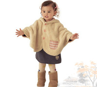 New arrival 2014 autumn and winter baby senior clip wincey cloak outerwear baby outerwear